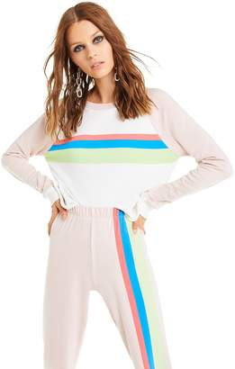 Wildfox Couture Mellow Stripes Beach House Crop | Vanilla Quartz