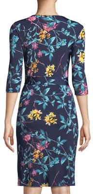 Melissa Masse Half-Sleeve Wrap Dress