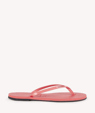 Havaianas Women's You Metallic Flip Flop Coral New Size 6 Rubber From Sole Society