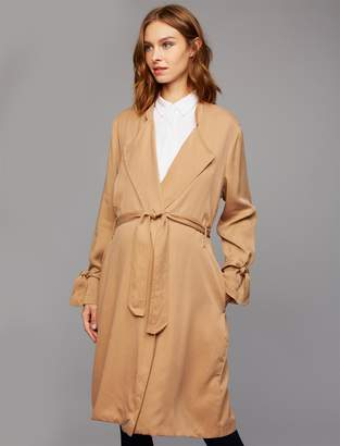 Splendid Pea Collection Belted Maternity Trench Coat