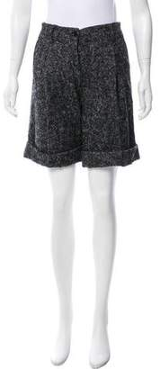 Dolce & Gabbana Mid-Rise Textured Shorts w/ Tags