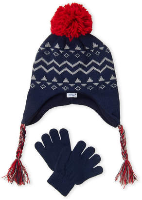 Capelli of New York Boys 4-7) Two-Piece Fair Isle Hat & Gloves Set