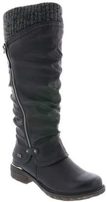 Rieker 98956-00 Schwarz Womens Boots 6 US
