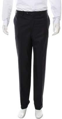 Kiton Flat Front Pinstripe Pants