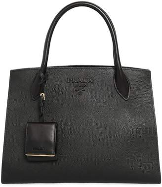 Prada Large Monochrome Saffiano Leather Bag