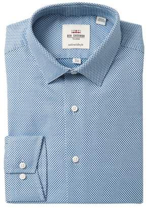 Ben Sherman Tailored Slim Fit Diamond Dobby Dress Shirt