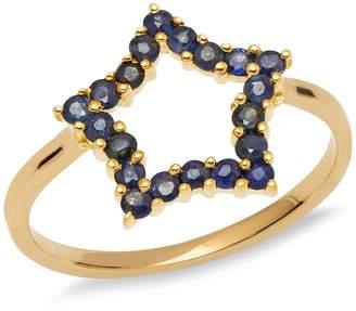 Lola Rose London - Mini Star Ring Blue Sapphire Medium