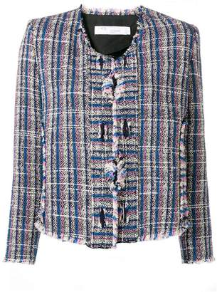 IRO knitted style structured jacket