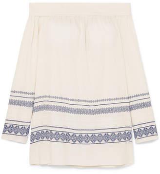 Zeus+Dione ZeusDione - Leto Off-the-shoulder Cotton-blend Gauze Mini Dress - Ivory