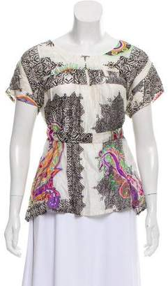 Etro Silk Printed Top w/ Tags