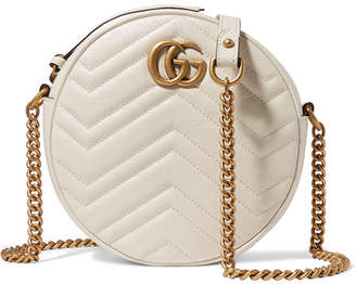 ef06c68110d Gucci Gg Marmont Circle Quilted Leather Shoulder Bag - White