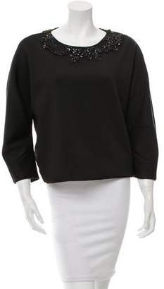 ADAM by Adam Lippes Embellished Long Sleeve Top