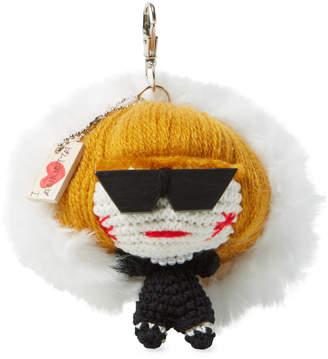 Mua Mua Dolls Women's Anna Fur Key Chain