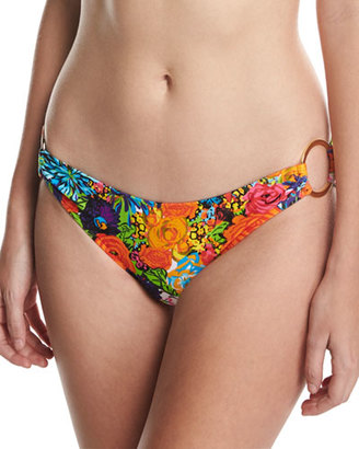 Milly Barbados Floral-Print Swim Bottom $105 thestylecure.com