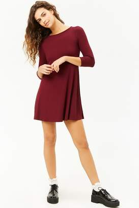 Forever 21 Ribbed Open-Back Swing Dress