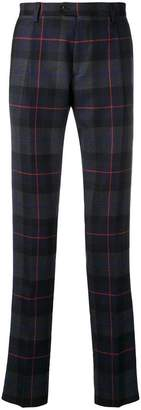 Etro plaid slim fit trousers