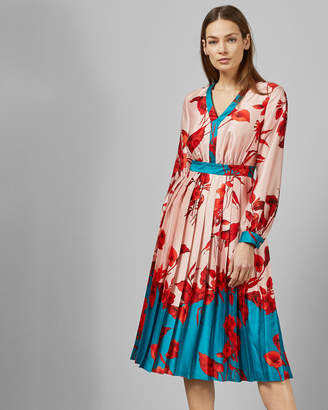 Ted Baker KAROLYN fantasia bow neck midi dress