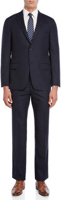 Hickey Freeman Two-Piece Dark Navy Pinstripe Suit