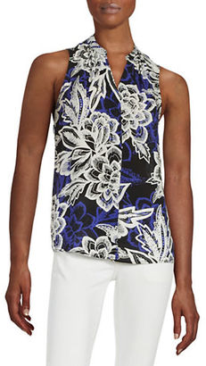 Lord & Taylor Sleeveless Tropical Blouse $80 thestylecure.com