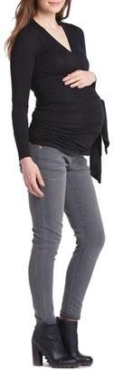 LILAC CLOTHING Bella Faux Wrap Maternity/Nursing Top $79.20 thestylecure.com