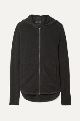 ATM Anthony Thomas Melillo French Cotton-blend Terry Hoodie - Anthracite
