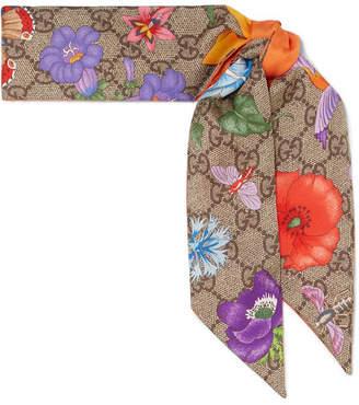 Gucci Printed Silk-twill Scarf - Orange