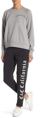 C&C California Graphic Knit Jogger