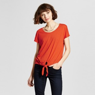 Mossimo Women's Tie Front Tee - Mossimo $14.99 thestylecure.com
