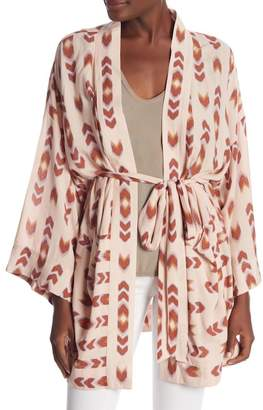 Dance and Marvel Belted Ikat Print Kimono