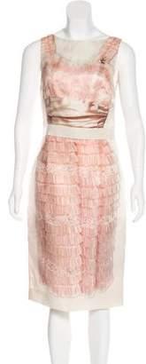 Dolce & Gabbana Silk Trompe L'oeil Dress