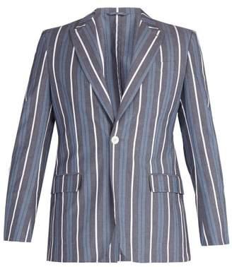 Connolly - Striped Cotton Blend Blazer - Mens - Blue