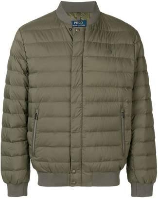 Polo Ralph Lauren logo padded bomber jacket