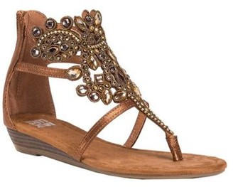 11e83ca14053b4 Muk Luks Women s Athena Jeweled Thong Sandal