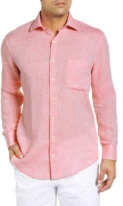 Peter Millar Crown Regular Fit Linen Sport Shirt