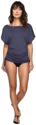 Lucky Brand - Festival Medallion Side Shirred Tunic Cover-Up Women's Swimwear $64 thestylecure.com