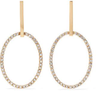 Ileana Makri Empty Mirror 18-karat Gold Diamond Earrings