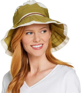 Co San Diego Hat Ribbon Sun Hat with Pleated Brim