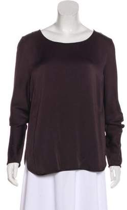 Theory Scoop Neck Long Sleeve Top