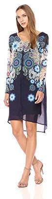 Desigual Women's Justine Woman Woven Long Sleeve Dress