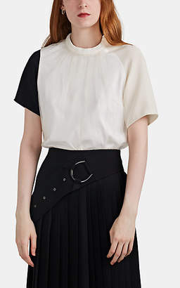 AKIRA NAKA Women's Tulle-Overlay Cotton Jersey T-Shirt - White