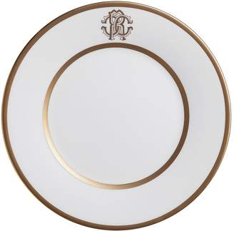 Roberto Cavalli Home Silk Gold Round Serving Dish (32cm)