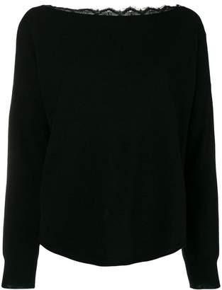 Semi-Couture Semicouture Sophia lace back sweater