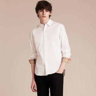 Burberry Stretch Cotton Poplin Shirt $265 thestylecure.com