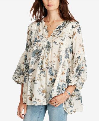 Denim & Supply Ralph Lauren Floral-Print Gauze Tunic $125 thestylecure.com