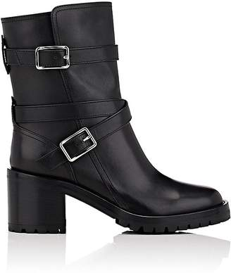 Gianvito Rossi Women's Buckled-Strap Leather Ankle Boots