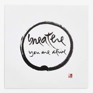 Thich Nhat Hanh Breathe You Are Alive Art Card