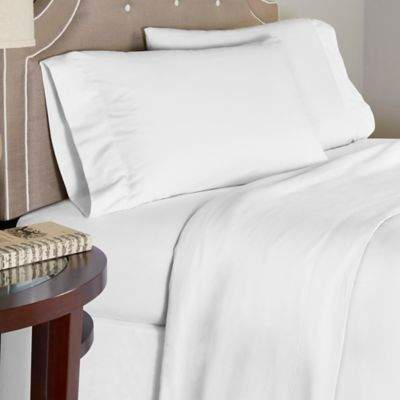 Bed Bath & Beyond Pointehaven 175 GSM Solid Flannel Twin XL Sheet Set
