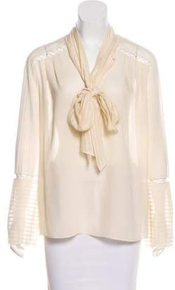 Rachel Zoe Silk Textured Blouse