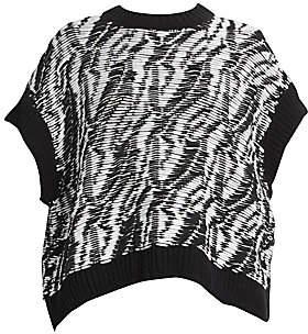 Loewe Women's Textured Short-Sleeve Sweater