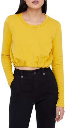 Noisy May Long-Sleeve Cropped Top